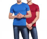 Zorchee Men's Round Neck Cotton Plain T-shirts -pack Of 2 (code - Zo-10-14 Pl)
