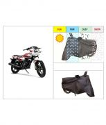 Autosun - Tvs Phoenix Bike Body Cover With Mirror Pockets-black Colour-(heavy Quality)