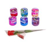 Indigo Creatives Love Gift Sea Shore Theme Gel Tea Light Candle Set With Red Rose