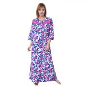 Sleeping Story Women's Poly Cotton Floral Printed Nighty (code - 10368)