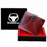 Walletlee Men Brown Genuine Leather Wallet (7 Card Slots)
