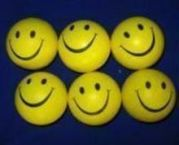 Set Of 6 Smiley Squeezy Ball