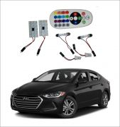 Trigcars Hyundai Elantra 2 X 16 Colors Rgb Bright 5050 LED Car Roof Dome Light Festoon T10 IR Remote