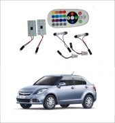 Trigcars Maruti Suzuki Swift Dzire 14-16 2 X 16 Colors Rgb Bright 5050 LED Car Roof Dome Light Festoon T10 IR Remote