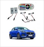 Trigcars Maruti Suzuki Swift Dzire 18 2 X 16 Colors Rgb Bright 5050 LED Car Roof Dome Light Festoon T10 IR Remote