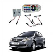Trigcars Maruti Suzuki Sx4 2 X 16 Colors Rgb Bright 5050 LED Car Roof Dome Light Festoon T10 IR Remote
