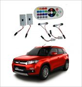 Trigcars Maruti Suzuki Vitara Brezza 2 X 16 Colors Rgb Bright 5050 LED Car Roof Dome Light Festoon T10 IR Remote