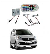 Trigcars Maruti Suzuki Wagon R 10-13 2 X 16 Colors Rgb Bright 5050 LED Car Roof Dome Light Festoon T10 IR Remote