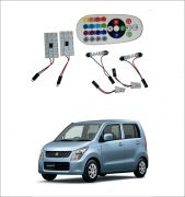 Trigcars Maruti Suzuki Wagon R Old 2 X 16 Colors Rgb Bright 5050 LED Car Roof Dome Light Festoon T10 IR Remote