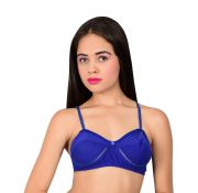Waiverson Women's Wired Cotton Padded Bra (blue) (code - Dp-bra-pd-026)