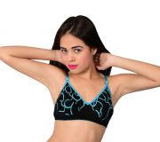 Waiverson Women's Wired Cotton Padded Bra (blue) (code - Dp-bra-pd-037)