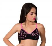 Waiverson Women's Wired Cotton Padded Bra (pink) (code - Dp-bra-pd-039)
