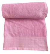 Krish 100% Cotton Bath Towel 580 GSM Pink (code - Twpink)