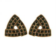 Piah Fashion Triangle Green Austin Diamond Earrings For Women'(code-9005)