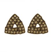 Piah Fashion Pink Austin Diamond Triangle Earrings For Women'(code-9007)