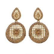 Piah Marvellous Lct Stone Gold Plated Ad Alloy Drop Earrings'(code-9143)