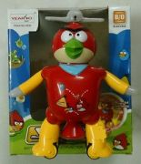 ANGRY BIRD Dancing Spinning Robot Toy Battery Operated - Music And Lights