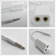 3.5mm Splitter Cable Earphone Adapter For IPod