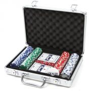 200 Piece Poker Set Casino Game Chips Set In A Aluminium Carry Case
