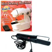 4 In 1 Mini Sewing Machine + Hair Straightner