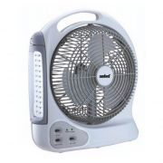 8 Inch Rechargeable Fan With LED Emergency Light