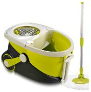 Magic Mop 360 With Wheels Dragging Handle & Steel Bucket Walkable Mop