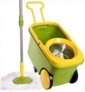 Magic Mop Spin mop stainless steel bucket bowl & with wheel