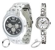 Buy Couple Watches & Get Couple Rings FREE....LS65