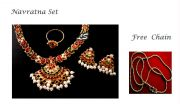 Buy Navratna Set Get Gold Plated Chain Free