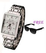 FREE SUN GLASSES WITH STYLISH WATCH FOR MEN SFGW1