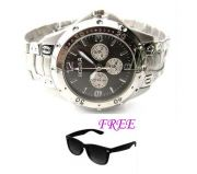FREE SUN GLASSES WITH STYLISH WATCH FOR MEN SFGW27