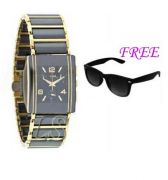 FREE SUN GLASSES WITH STYLISH WATCH FOR MEN SFGW39