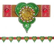 Seven Wooden Leaves Door Hanging Bandanwar Toran Dh013
