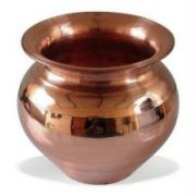 Copper Vessel Kalash Tambya Lota 1 Ltr For Pooja