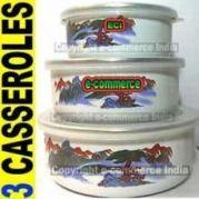 3pcs Set Cook, Serve & Store Casserole Bowls