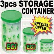 Set Of 3 Kitchen Storage Containers Jars
