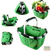 Premium Folding Basket For Picnic Shopping Grocery Camping Foldable Hamper