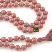 Eci Original Red Jasper Gemstone 108 Dana Jaap Prayer Mala, Stone Jap Beads