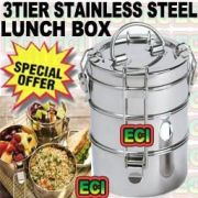Stainless Steel 3 Tier Tiffin Carrier Lunch Box