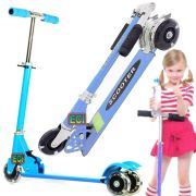 ECI Blue 3 Wheel Kids Scooter Children Riding Rollerboard Kick Bike Rideon
