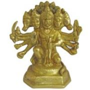 Panchmukhi Hanuman God Brass Statue,religious God Idol For Pooja