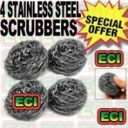 4pcs Stainless Steel Mesh Ball Metal Scrubber