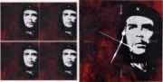 Che Theme Wall Clock With Matching Glass Table Coasters - Limited Edition