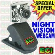 Night Vision Web Cam Camera, Webcam With LED Light