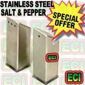 Stainless Steel Salt And Pepper Shaker Dispenser
