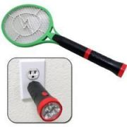 New Stylish Rechargeable Mosquito Racket / Insect Killer With LED Torch.