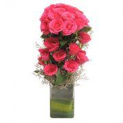 Ferns N Petals Pink Roses_code-EXDFNP481