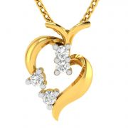 Avsar Real Gold And Diamond Bhavya Pendant ( Code - Avp229ya )