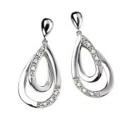 Tarang Real Diamond Twelve Stone Two Pear Earring # TAE009