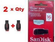 Combo Of 2 Sandisk 16GB Cruzer Blade Pendrive